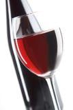 Stilleven met rode wijnen Stock Foto's