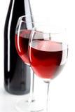 Stilleven met rode wijnen Stock Afbeelding