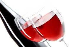 Stilleven met rode wijnen Stock Foto