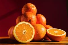 Stilleven met sinaasappelen Stock Afbeelding