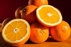 Stilleven met sinaasappelen Royalty-vrije Stock Afbeeldingen