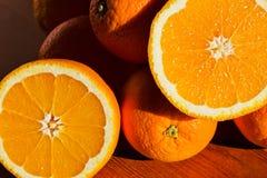 Stilleven met sinaasappelen Royalty-vrije Stock Fotografie