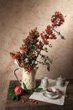 Stilleven met thee en fruit royalty-vrije stock afbeeldingen