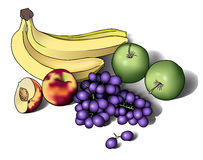 Stilleven met vruchten Stock Afbeelding