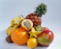 Stilleven met vruchten stock afbeeldingen