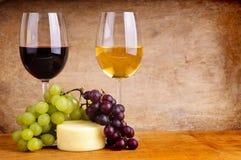 Stilleven met wijn stock foto