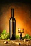 Stilleven met wijn Royalty-vrije Stock Foto