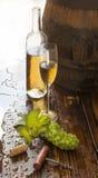 Stilleven met witte wijn Royalty-vrije Stock Afbeeldingen