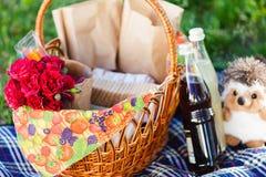 Stilleven op een picknick Stock Afbeeldingen