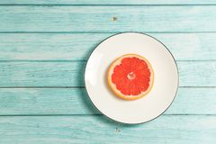 Stilleven, rode sinaasappel royalty-vrije stock foto