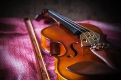 Stilleven uitstekende viool Stock Foto