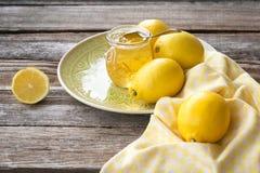 Stilleven van citroenjam stock foto's