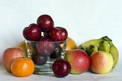 Stilleven van fruit Stock Afbeeldingen