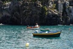 Stilleven van oude vissersboten Royalty-vrije Stock Afbeelding