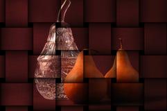 Stilleven van peren met kristal Stock Foto's