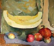 Stillevenkunst het schilderen beeld Stock Foto