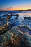 Stillhet vaggar seascape Arkivbild