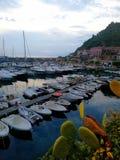 Stillheten i hamnen royaltyfri fotografi