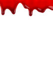 Stillicidio del sangue su bianco Fotografie Stock Libere da Diritti
