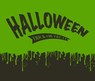 Stillicidio della melma Halloween illustrazione di stock