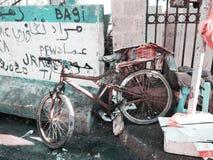 Stillife de port de pêche de vélo en Afrique photos stock