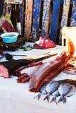 Stillife del porto di pesca in Africa immagini stock