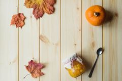 Stillleben der Kürbis-Marmelade Stockbilder
