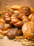 Stillleben des Brotes, Laibe, Brot Lizenzfreie Stockbilder
