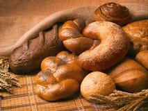 Stillleben des Brotes, Laibe, Brot Lizenzfreie Stockfotos