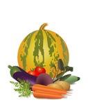 Stillleben des unterschiedlichen Gemüses Stockfoto