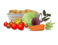 Stillleben des unterschiedlichen Gemüses Lizenzfreies Stockfoto