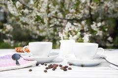 Stillleben eines Tasse Kaffees Stockbild