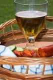 Stillleben mit Bier stockfotos