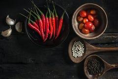 Stillleben mit dem Kochen von Bestandteilen stockfotos
