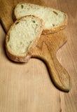 Stillleben mit geschnittenem Brot Lizenzfreies Stockfoto