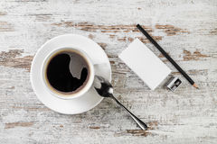 Stillleben mit Kaffeetasse Lizenzfreies Stockfoto