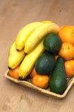 Stillleben mit Nahaufnahme der tropischen Früchte Lizenzfreies Stockbild