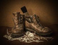 Stillleben mit Stiefeln Stockbilder