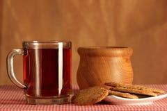 Stillleben mit Tee Stockbild