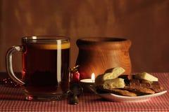 Stillleben mit Tee lizenzfreies stockbild