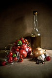 Stillleben mit Tomaten Lizenzfreie Stockfotografie