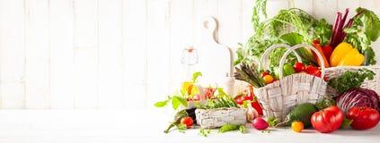 Stillleben mit verschiedenen Arten des Frischgem?ses stockbilder