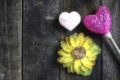 Stillleben-Valentinstag Stockbild