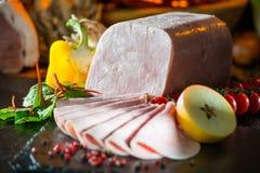 Stillleben von Fleischwaren Stockfoto