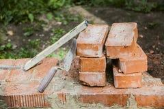 Stillleben von Gebäudewerkzeugen und -gegenständen Lizenzfreie Stockfotos