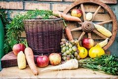 Stillleben von Obst und Gemüse von im Herbst Lizenzfreie Stockfotografie