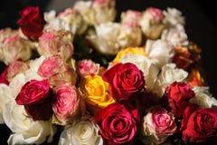 Stilllebenblumenstrauß von Rosen lizenzfreie stockfotos