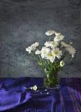 Stilllebenkunst der weißen Blume Lizenzfreie Stockfotos