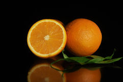 Stilllebenorange, orange Stockfotografie
