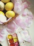 Stilllife di Pasqua di vista superiore immagini stock